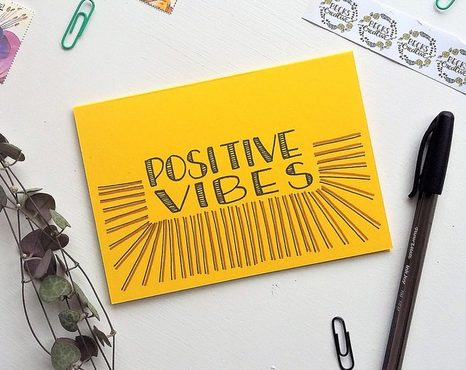 Featured listing image: Positive Vibes greeting card
