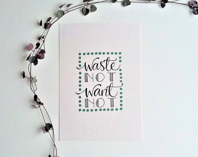 Featured listing image: Waste not, want not - A5 eco-reminder