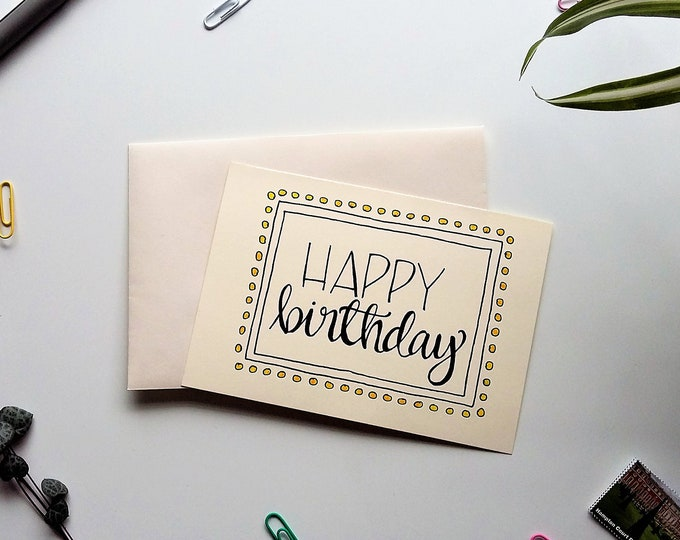 Featured listing image: It's your Birthday! Hand drawn Card