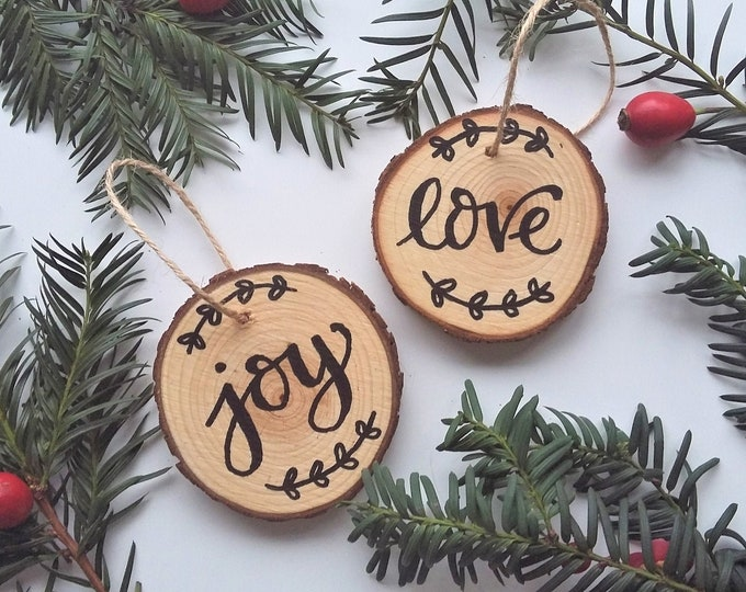 Featured listing image: Christmas Tree Decoration - Love and Joy
