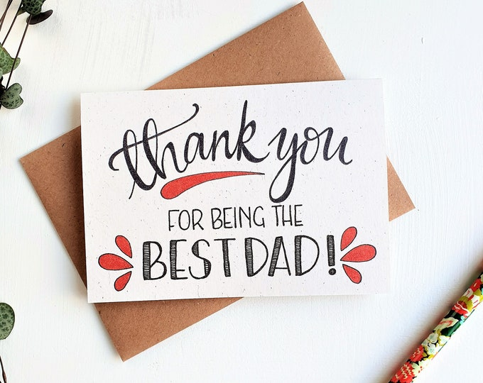 Featured listing image: Thank you Best Dad - Father's Day card
