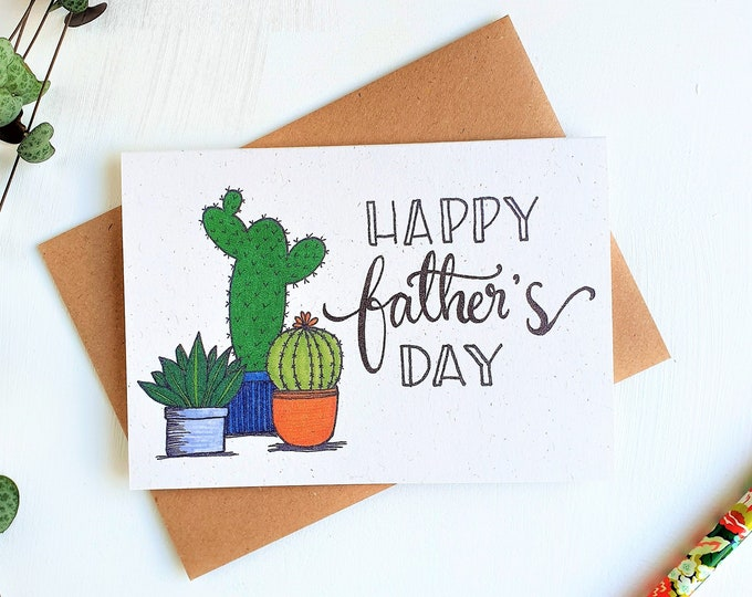 Featured listing image: Cacti Father's Day card