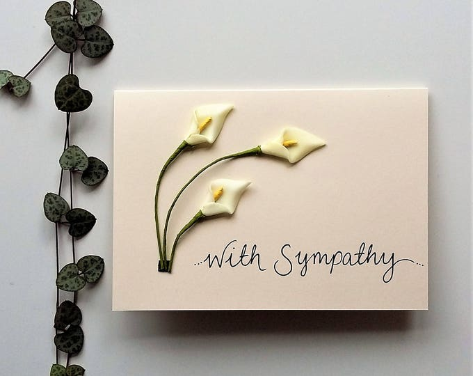 Featured listing image: Curved Lilies Sympathy Card