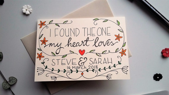 Personalised Bible verse card - 'I Found The One My Heart Loves'