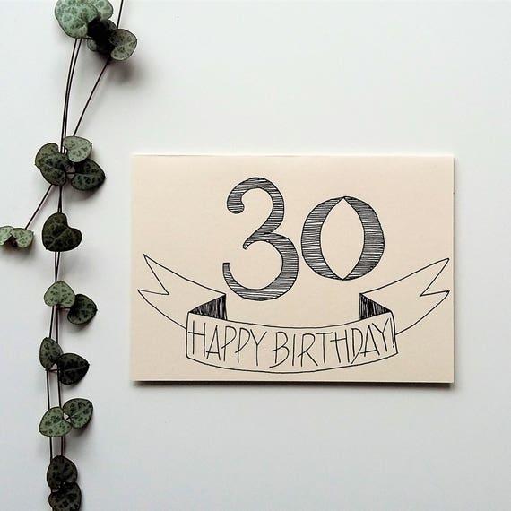 30th Birthday Card Happy Gender Neutral