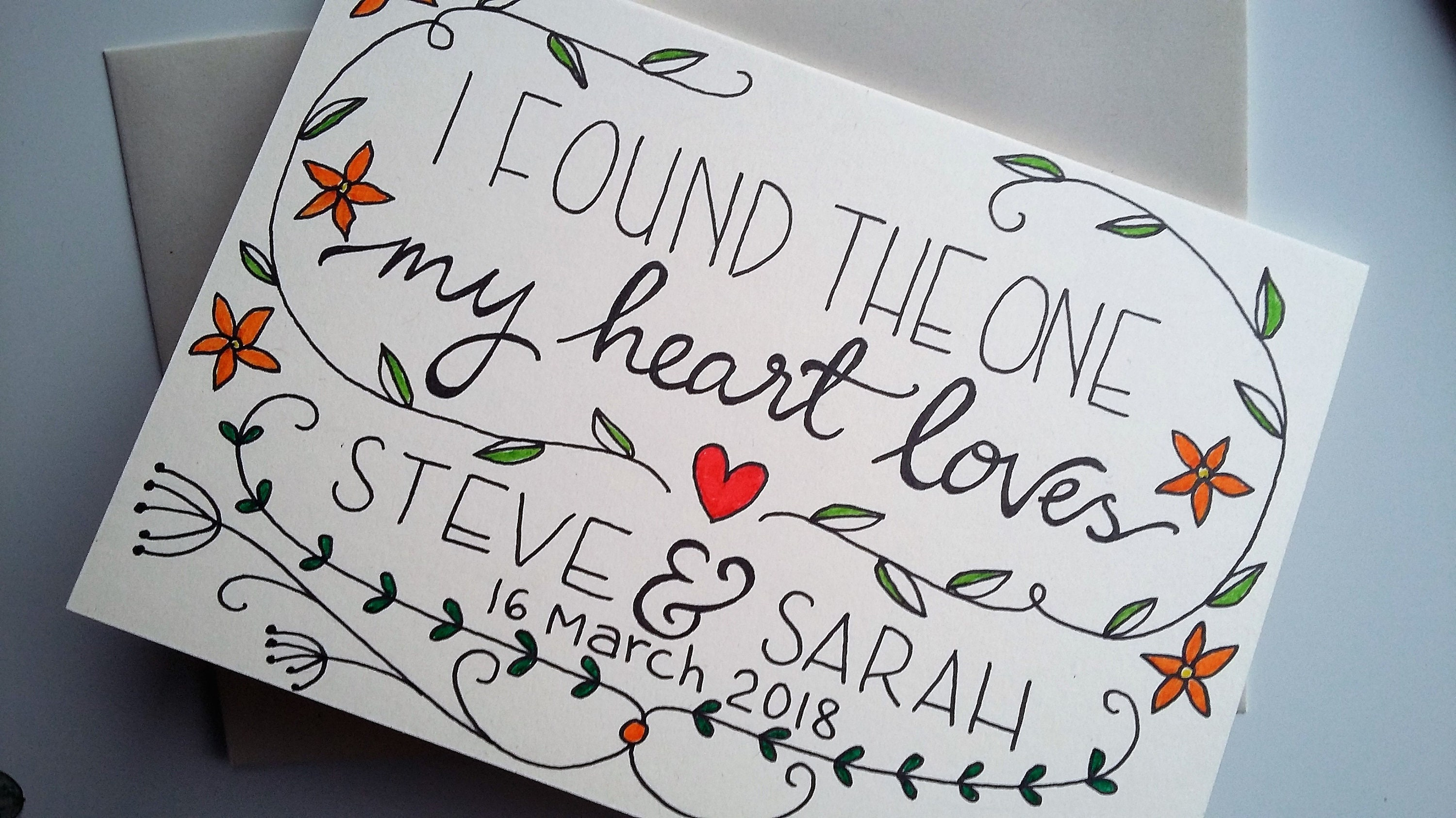 I found the one my heart loves' Personalised card