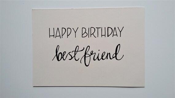 Happy Birthday Best Friend - birthday card for special friend , A6 blank  card, friend birthday card, eco-friendly recycled card, hand drawn