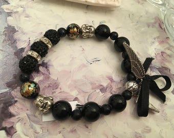onyx and Buddha bracelet