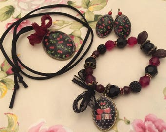 3 adornment jewelry cherries