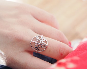 Tree of life ring sterling silver - sterling silver 925 ring