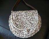 Leopard print shoulder purse faux lambskin lining brown shoulder strap small bag animal print purse small tote leopard print shoulder bag