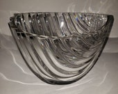Beautiful heavy crystal bowl unsigned but most likely Baccarat