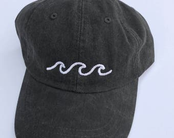 Three Waves Baseball Cap - Black