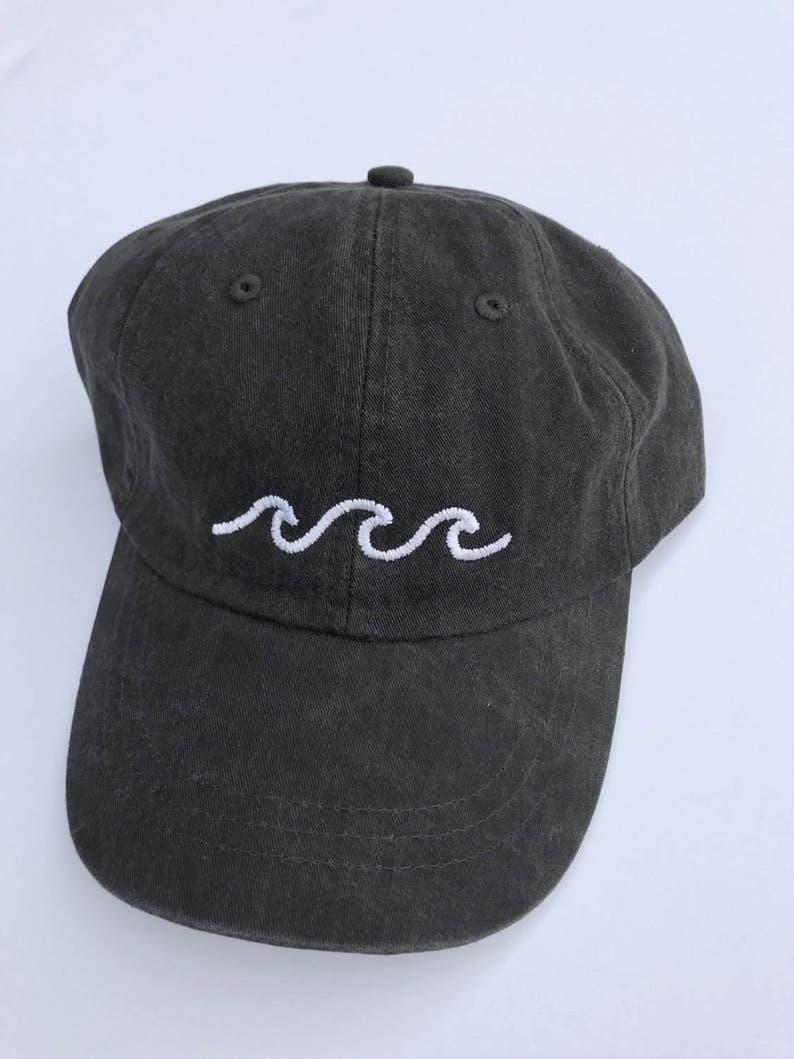 Three Waves Baseball Cap Black  93661797e81e