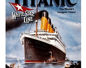 Titanic Worlds Largest Liner Edible Cake Cupcake Or Cookie Topper