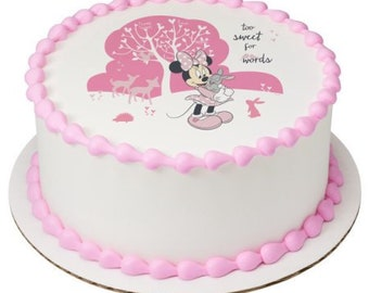 Minnie Mouse Too Sweet Edible Icing Image