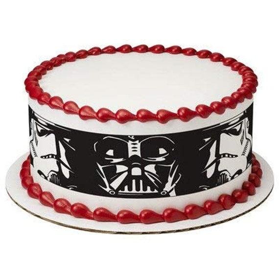 Star Wars Darth Vader And Storm Trooper Designer Strips Edible Etsy