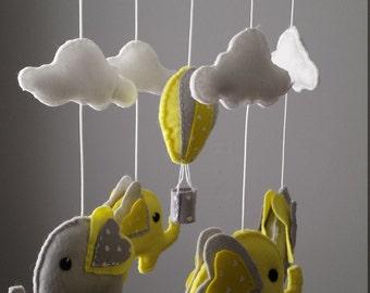 Ready to ship Elephant Mobile - Hot Air Balloon Mobile