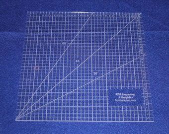 """9"""" Square Ruler. Acrylic 1/8"""" thick. Quilting/Sewing/Embroidery"""