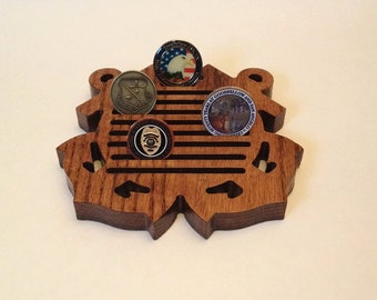 Small US Coast Guard Coin Holder