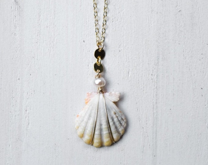 Tiny Albino Sunrise Shell/14k Gold Filled/18""
