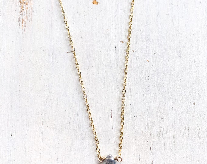 Dainty Labradorite Necklace/16""