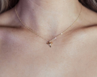 """Tiny Shark Tooth Necklace/14k Gold Filled/16"""""""