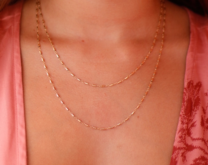 Double Strand Bamboo Necklace/14k Gold Filled