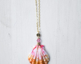 Multi Colored Sunrise Shell/14k Gold Filled/18""