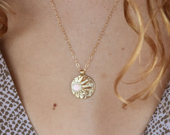 """Sol Charm Necklace/Long & Short Style Chain/20"""""""