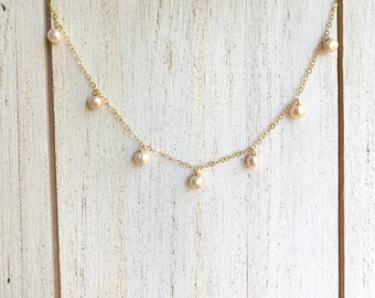 Dainty Freshwater Pearl Band/14k Gold Filled