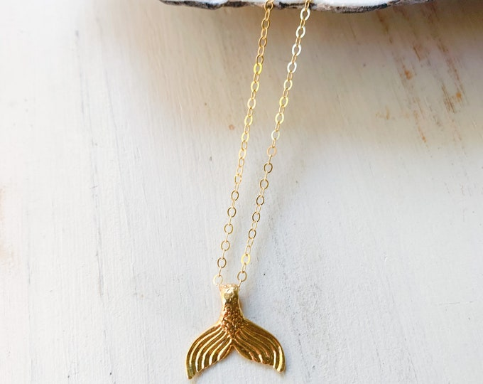 Mermaid Dreams/ Charm Necklace/14k Gold Filled