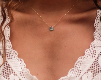 Sky Blue Apatite Necklace
