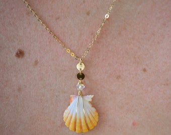 Yellow Sunrise Shell/14k Gold Filled/18""