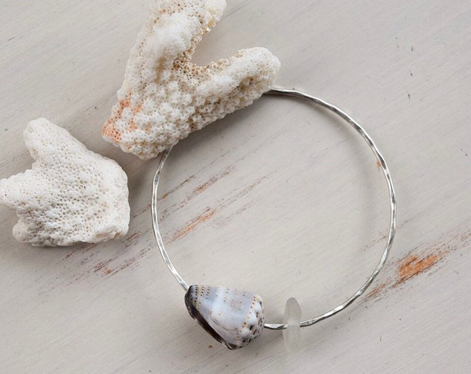 Hawaiian Cone Shell Bangle-Sterling Silver