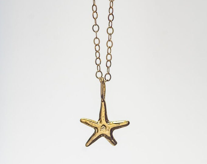 Small Dainty Starfish Necklace