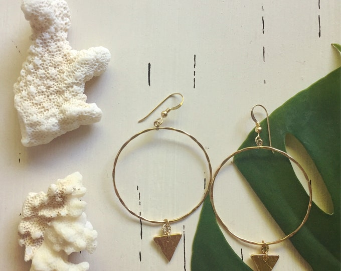 Triangle x Hoops/14K Gold Filled