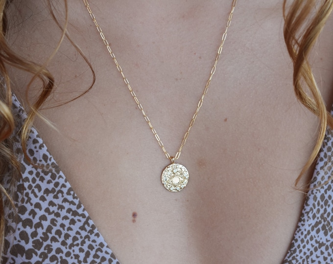 "Asteroid Gemstone Pendant /Charm Necklace/20"""