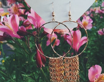14K Gold Filled Dangle Earrings/Long, Elegant & Sparkly