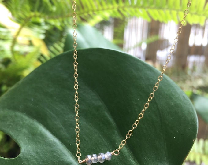 Labradorite Collection /Tiny Labradorite Choker/14""