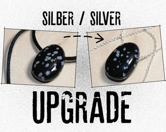 UPGRADE --- Silver chain (silver 925) --- SURCHARGE for silver chain instead of leather/cotton cord