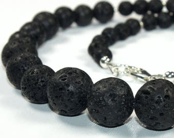 Lava and silver 925 (necklace)