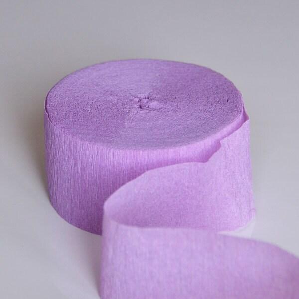 Du Streamer papier crépon mauve lavande Streamer Du FT 81 couleur parti idées bébé douche décoration de mariage 6df6f6