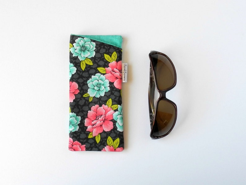 6a49df7709bb Padded Eyeglasses Glasses Case Reading Glasses Case Fabric | Etsy