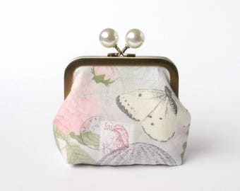 Snap Frame, Change Pouch, Metal Frame Balls, Coin Purse, Purse Accessory, Desk Organizer, Earbud Pouch, Mini Clutch, Gift Under 20, French
