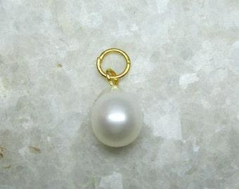 Natural Pearl Pendant, Natural Genuine 10MM Drop Shape Pearl Pendant