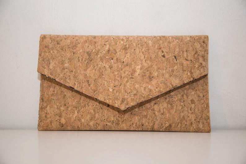 Cork Clutch-Eco Friendly Purse-Vegan bag-Handmade Bag-Gift for image 0