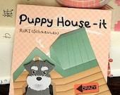 Kawaii Puppy House Memo Pad Grey Dog
