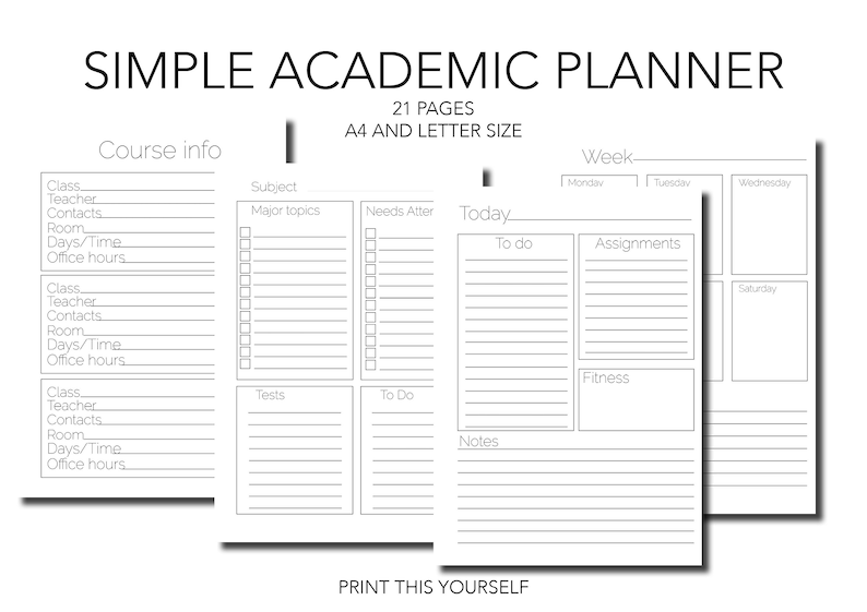 photo about Student Planner Printable known as Printable Instructional planner. Printable Pupil planner. Printable systems timetable. Printable Quality Record. Printable Pupil organizer.