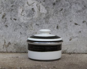 Arabia of Finland KARELIA Sugar Bowl with Lid, Designed by Anja Jaatinen-Winquist, 1970s Scandinavian Design